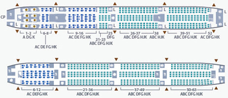Garuda Indonesia Boeing 777 300ER Seating Plan