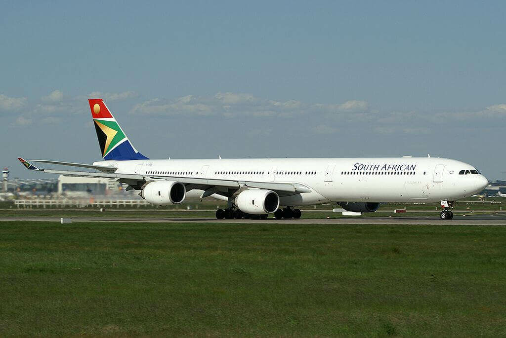 SAA South African Airways ZS SNA Airbus A340 642 at Frankfurt Airport