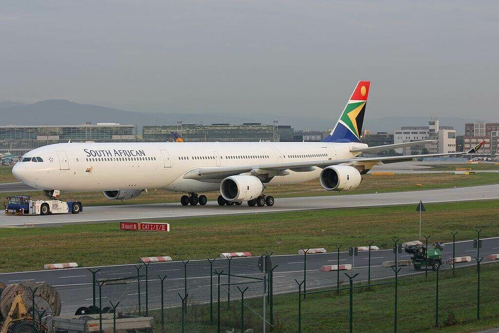 SAA South African Airways ZS SNB Airbus A340 642 at Frankfurt Airport