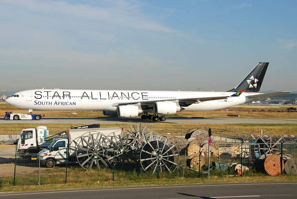 SAA South African Airways ZS SNC Airbus A340 642 Star Alliance Livery at Frankfurt Airport