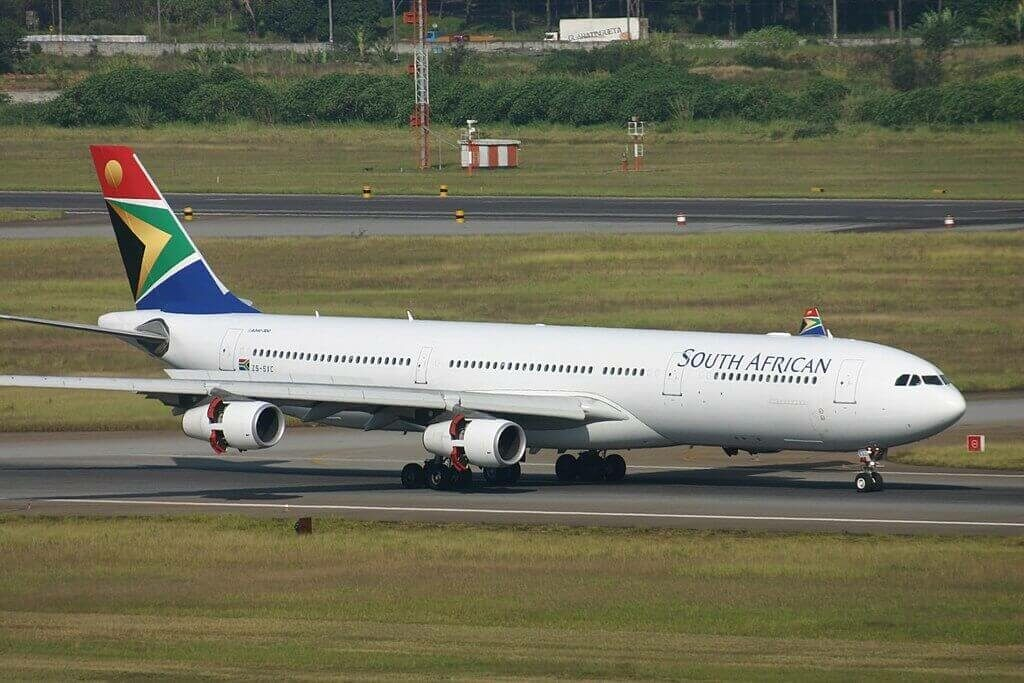 SAA South African Airways ZS SXC Airbus A340 313 at São Paulo Guarulhos International Airport