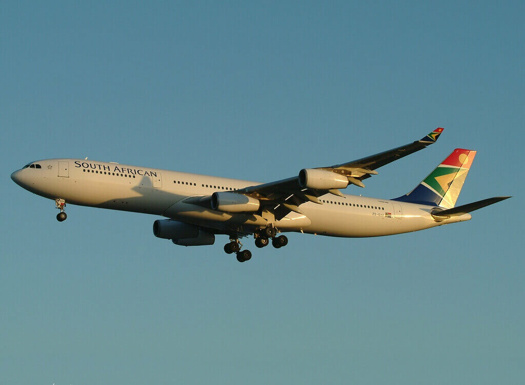 SAA South African Airways ZS SXF Airbus A340 313 at London Heathrow Airport