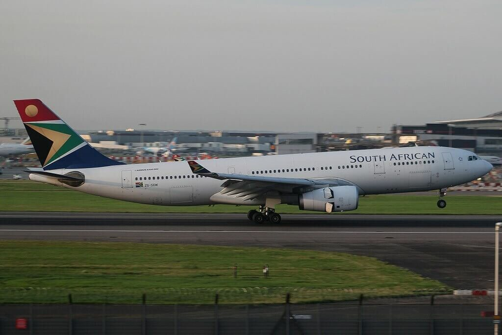 SAA South African Airways ZS SXW Airbus A330 243 at London Heathrow Airport