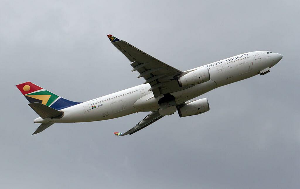 SAA South African Airways ZS SXZ Airbus A330 243 at London Heathrow Airport