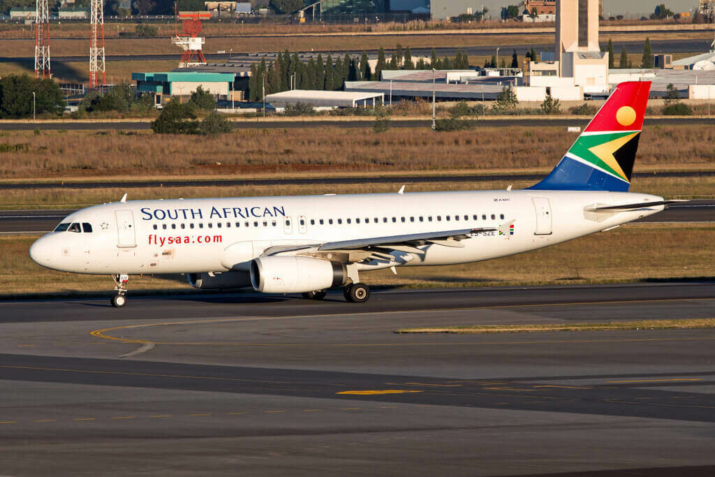 SAA South African Airways ZS SZE Airbus A320 232