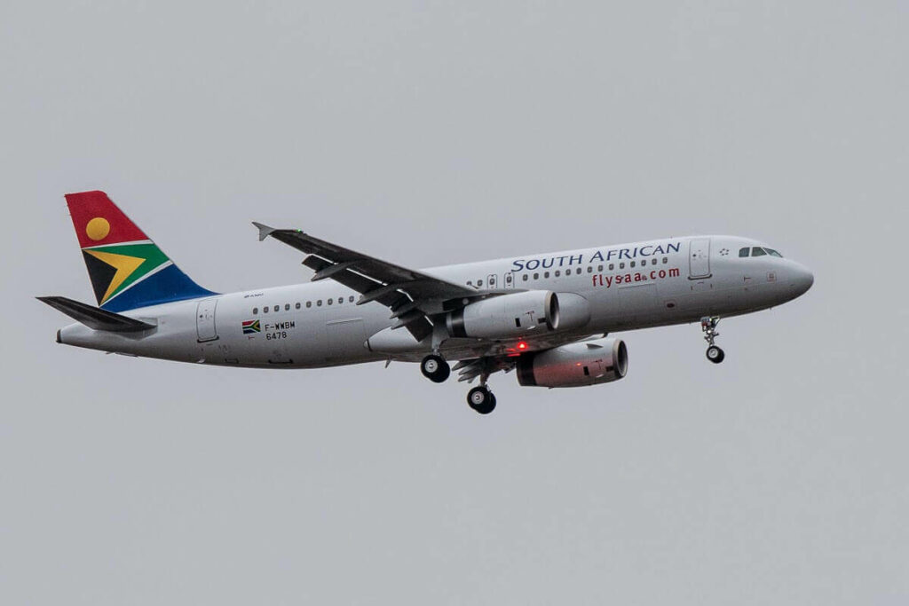 SAA South African Airways ZS SZJ Airbus A320 232