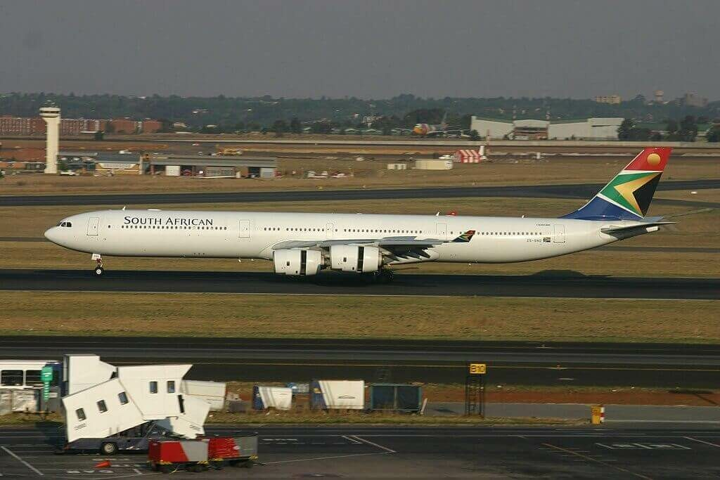 SAA ZS SND Airbus A340 642 South African Airways at OR Tambo International Airport