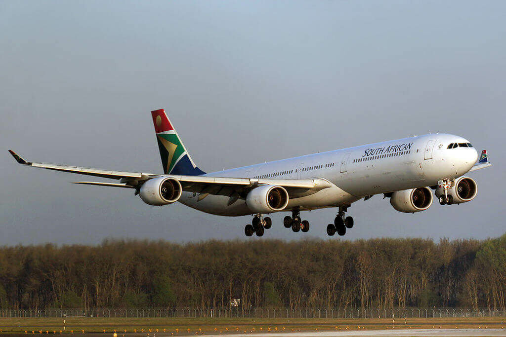 SAA ZS SNF Airbus A340 642 South African Airways at Munich Airport