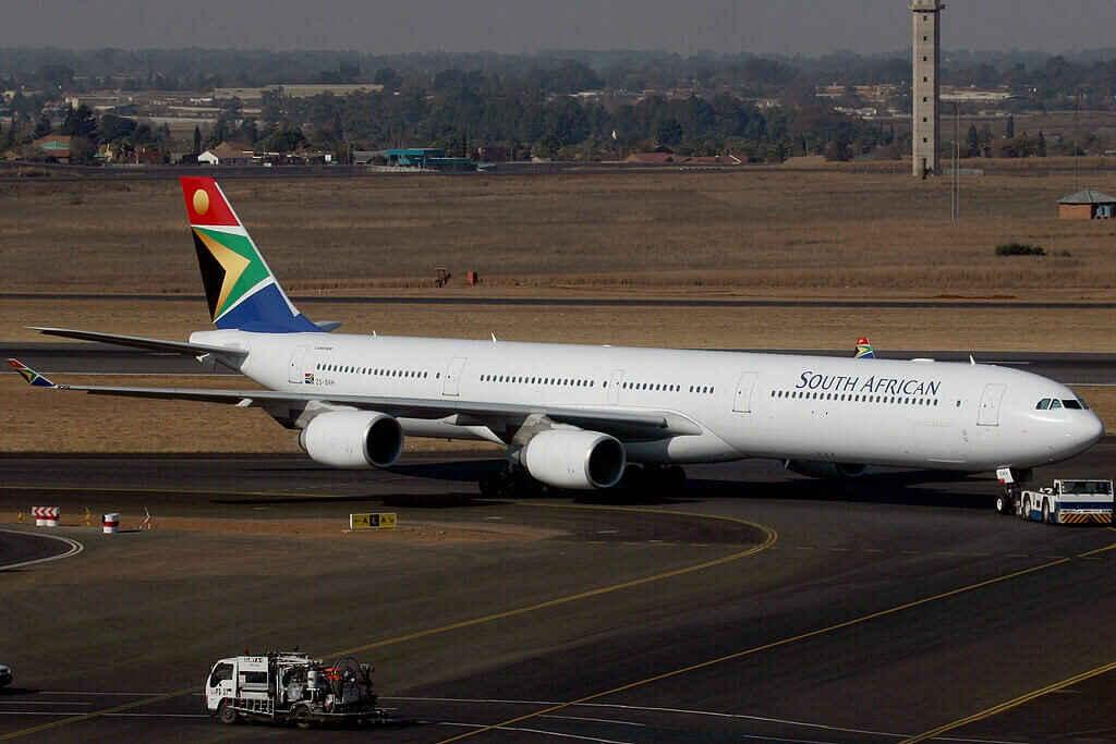 SAA ZS SNH Airbus A340 642 South African Airways at OR Tambo International Airport