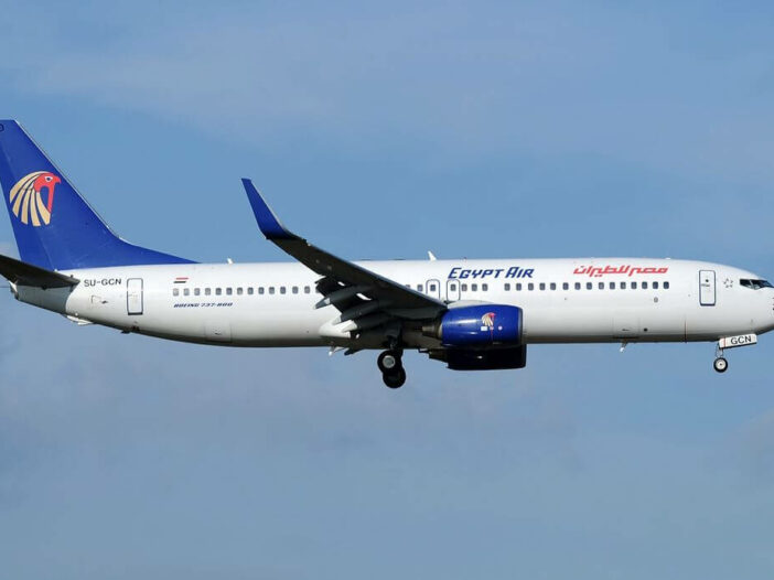 SU GCN Boeing 737 866WL EgyptAir at Fiumicino Airport