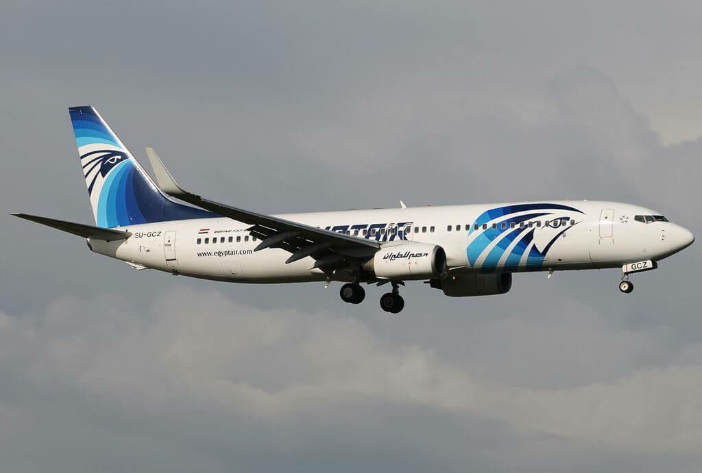 SU GCZ Boeing 737 866WL EgyptAir at Fiumicino Airport
