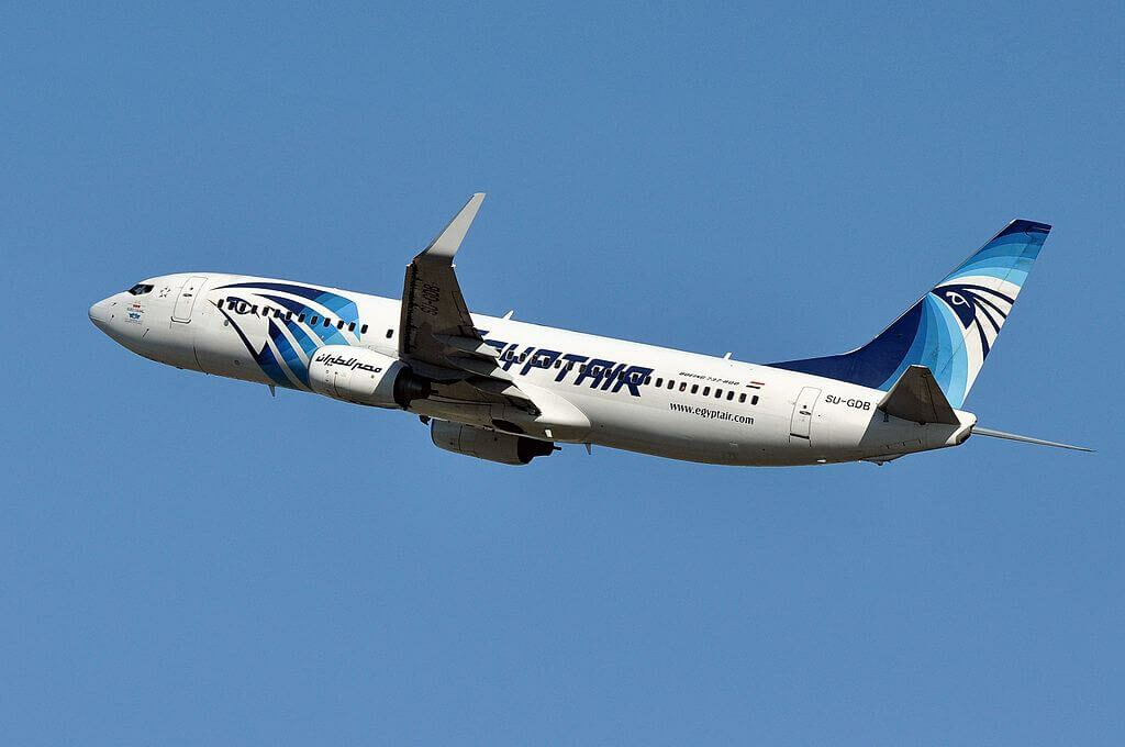 SU GDB Boeing 737 866WL EgyptAir at Fiumicino Airport
