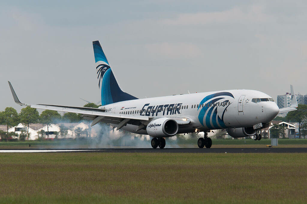SU GDC Boeing 737 866WL EgyptAir at Amsterdam Airport Schiphol
