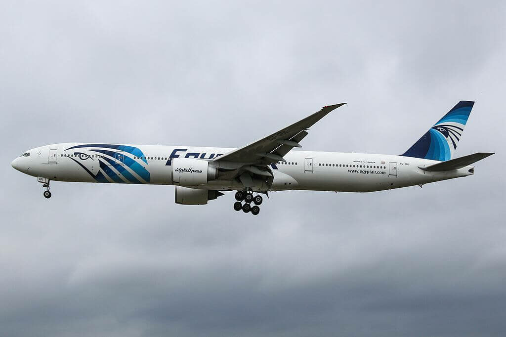SU GDL Boeing 777 36NER EgyptAir at London Heathrow Airport