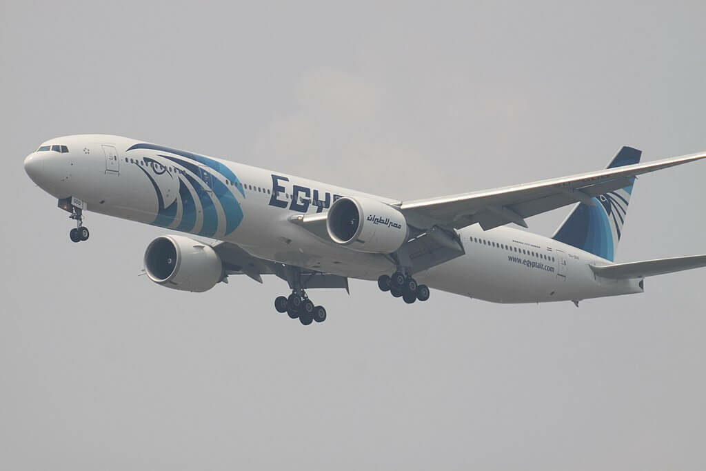 SU GDO Boeing 777 36NER EgyptAir at Suvarnabhumi International Airport