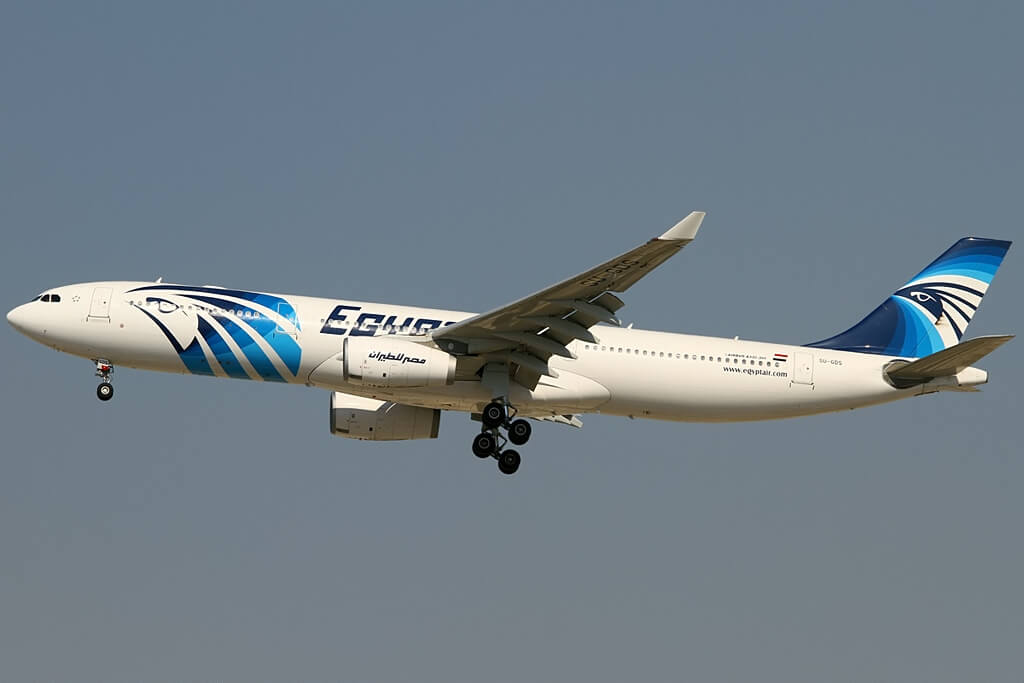 SU GDS Airbus A330 343 EgyptAir at Dubai International Airport