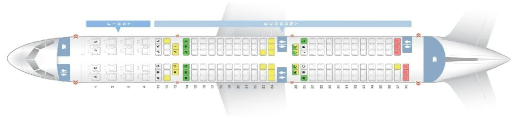 Seat Map and Seating Chart Air China Airbus A321ceo neo 177 Seats Layout