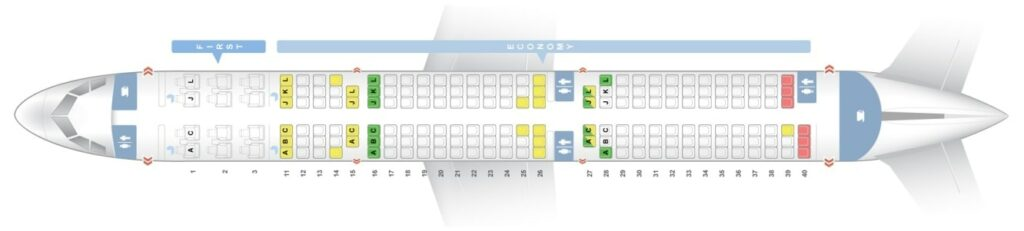 Seat Map and Seating Chart Air China Airbus A321ceo neo 185 Seats Layout