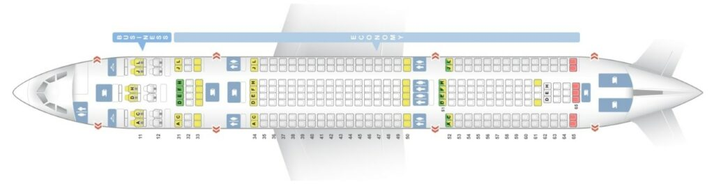Seat Map and Seating Chart Air China Airbus A330 200 Layout 284 Seats