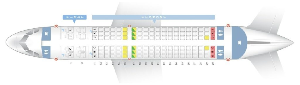 Seat Map and Seating Chart Airbus A319 100 Air China
