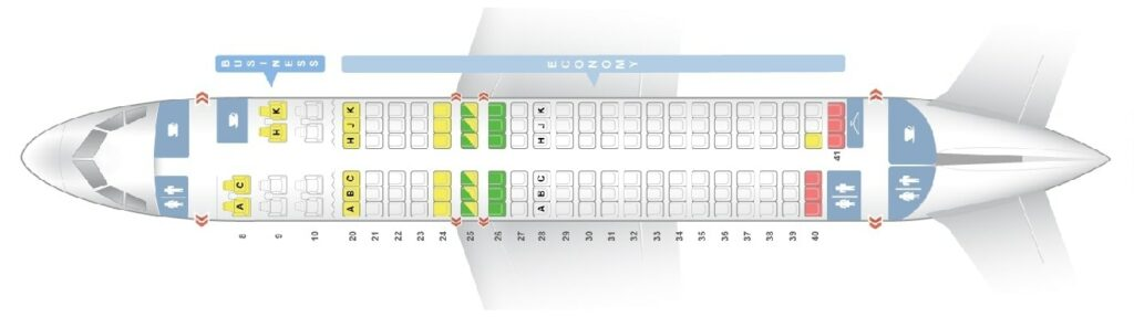Seat Map and Seating Chart Airbus A320 200 Egyptair