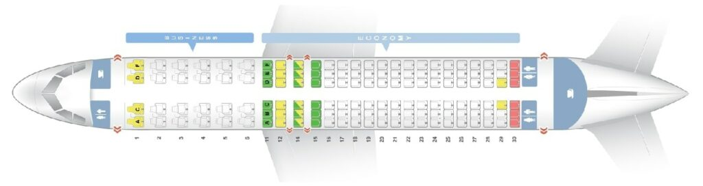 Seat Map and Seating Chart Airbus A320 200 South African Airways