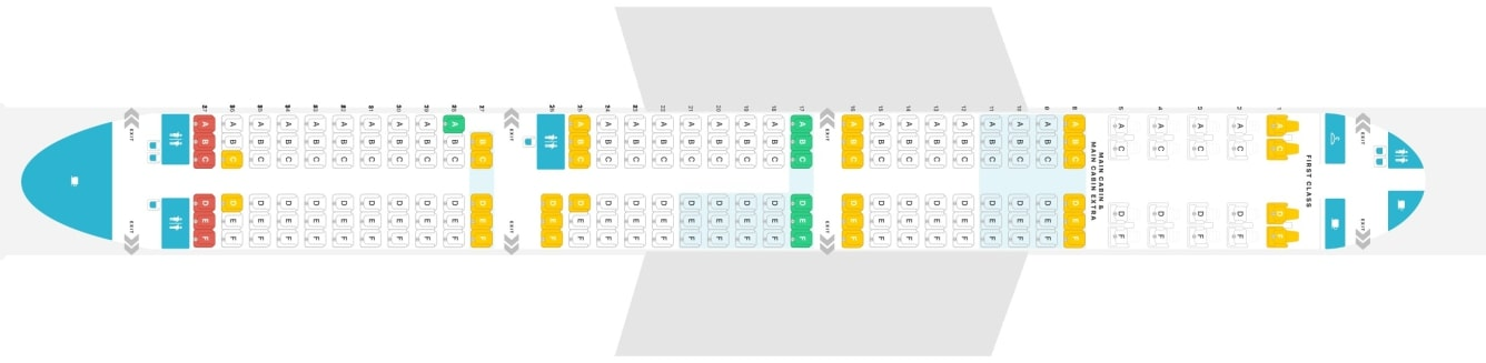 Seat Map and Seating Chart Airbus A321neo ACF American Airlines