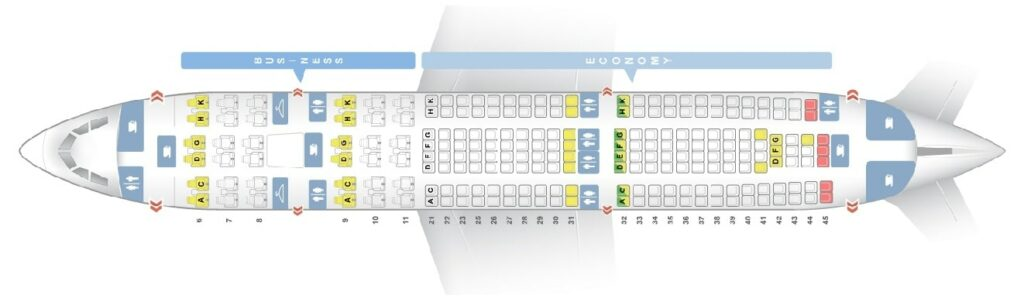 Seat Map and Seating Chart Airbus A330 200 Garuda Indonesia