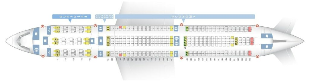 Seat Map and Seating Chart Airbus A330 300 Air China
