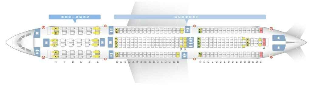 Seat Map and Seating Chart Airbus A330 300 Egyptair