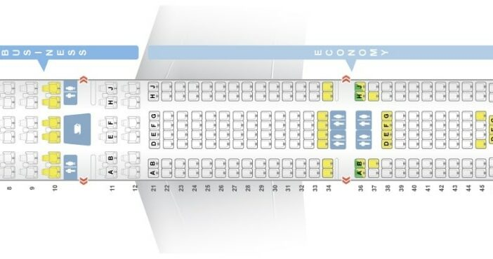 Seat Map and Seating Chart Airbus A330 300 Layout 257 Seats Garuda Indonesia