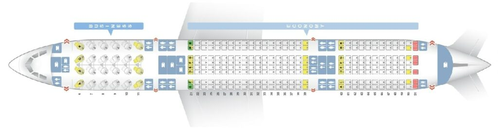 Seat Map and Seating Chart Airbus A330 300 Layout 263 Seats Garuda Indonesia