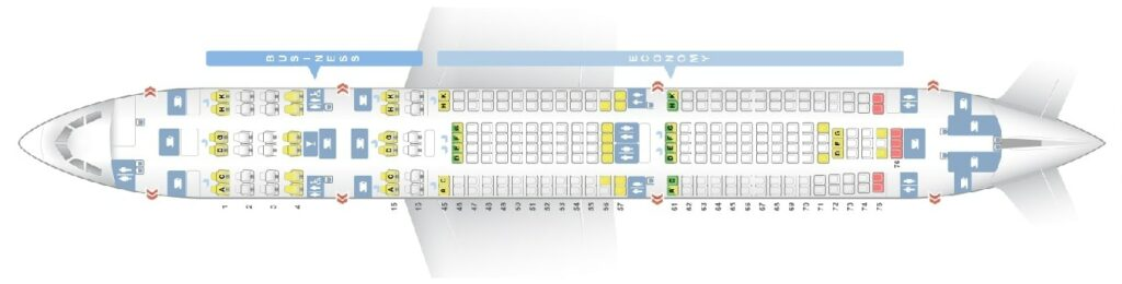 Seat Map and Seating Chart Airbus A340 300 Layout 251 Seats South African Airways SAA
