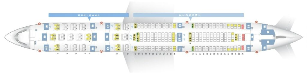 Seat Map and Seating Chart Airbus A340 300 Layout 253 Seats South African Airways SAA