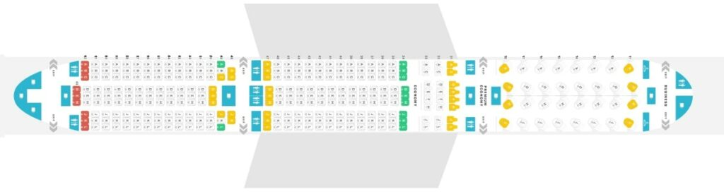 Seat Map and Seating Chart Airbus A350 900 Air China