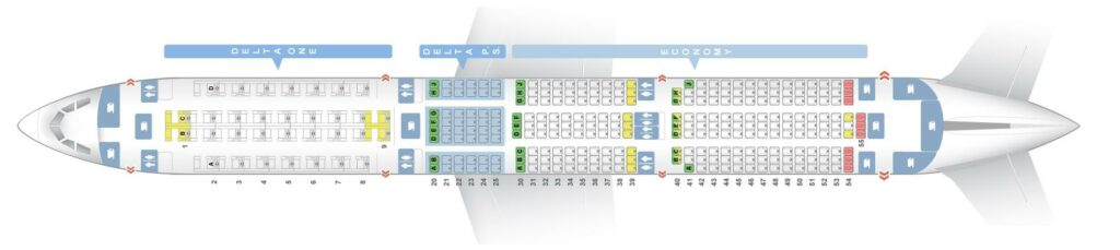 Seat Map and Seating Chart Airbus A350 900 Delta Air Lines
