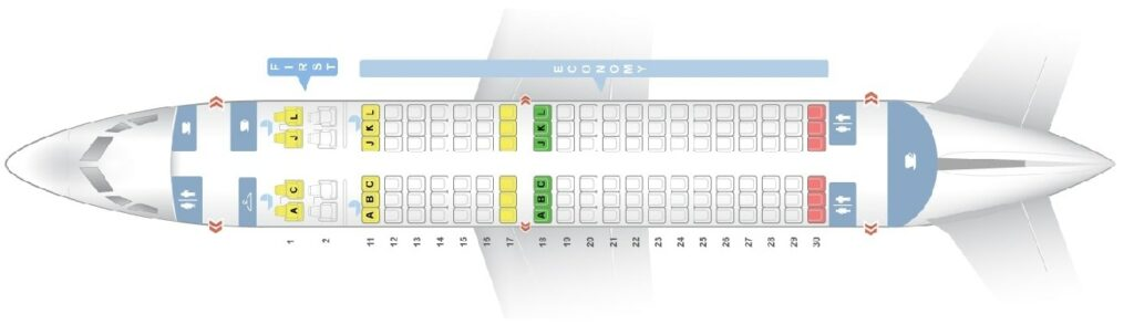 Seat Map and Seating Chart Boeing 737 700 Air China