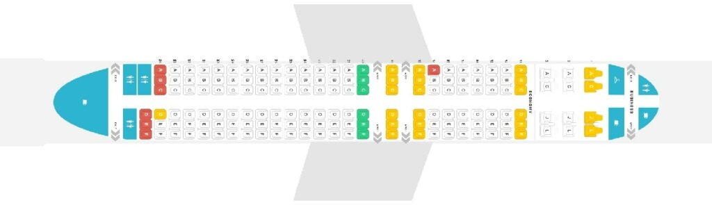Seat Map and Seating Chart Boeing 737 800 Air China 159 Seats Layout