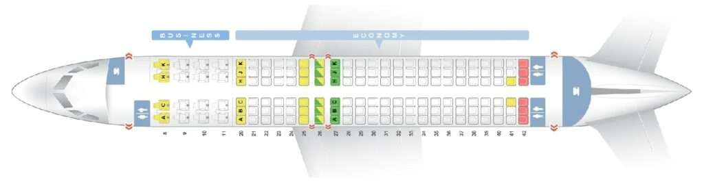 Seat Map and Seating Chart Boeing 737 800 Egyptair