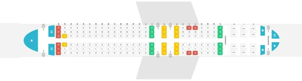 Seat Map and Seating Chart Boeing 737 800 Garuda Indonesia