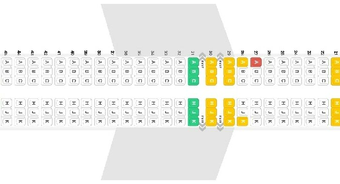 Seat Map and Seating Chart Boeing 737 MAX 8 Garuda Indonesia