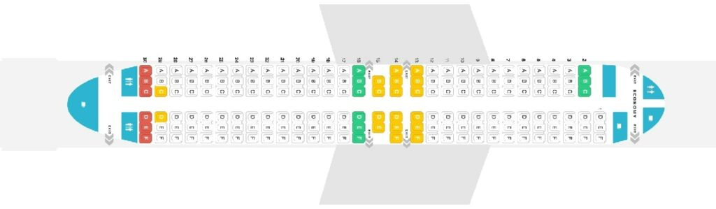 Seat Map and Seating Chart Boeing 737 MAX 8 Southwest Airlines