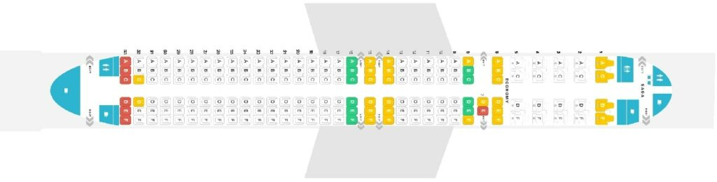 Seat Map and Seating Chart Boeing 757 200 Layout 171 Seats Icelandair