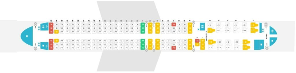 Seat Map and Seating Chart Boeing 757 200 Layout 183 Seats Icelandair