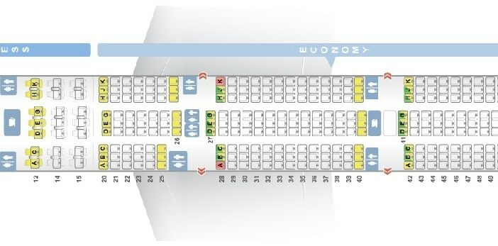 Seat Map and Seating Chart Boeing 777 300ER Egyptair