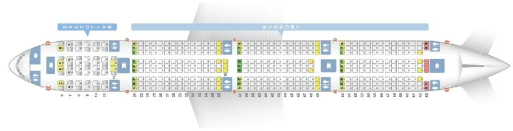 Seat Map and Seating Chart Boeing 777 300ER Two Class Layout Garuda Indonesia