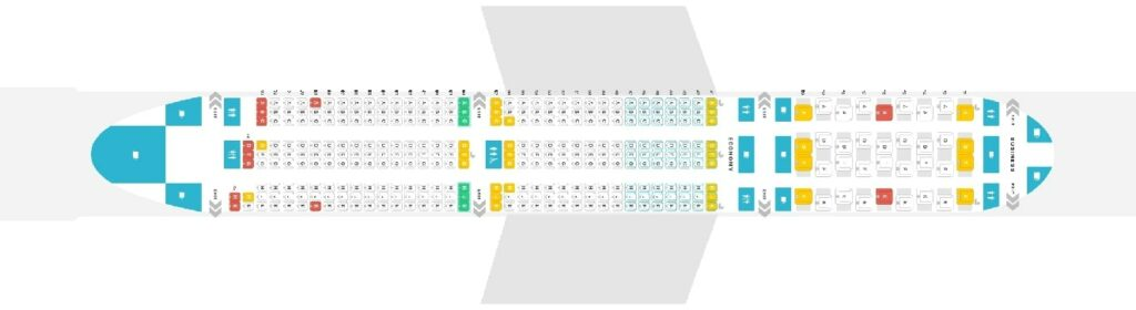 Seat Map and Seating Chart Boeing 787 10 Dreamliner Singapore Airlines
