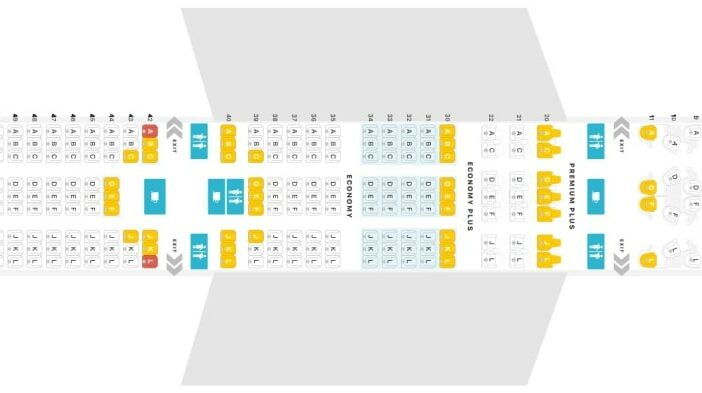 Seat Map and Seating Chart Boeing 787 10 Dreamliner United Airlines