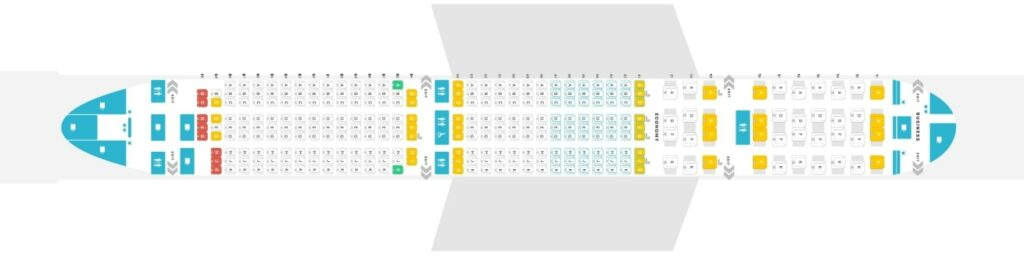 Seat Map and Seating Chart Singapore Airlines Airbus A350 900 Medium Haul Layout