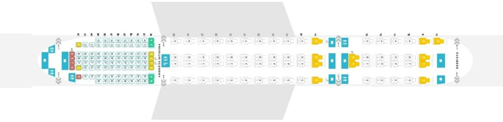 Seat Map and Seating Chart Singapore Airlines Airbus A350 900 Ultra Long Range ULR Layout
